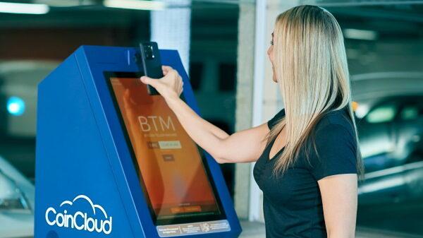 Bitcoin ATM woman