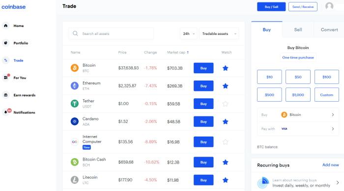 Coinbase exchange UK