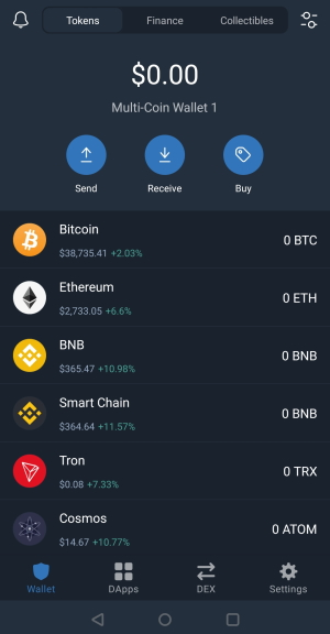 Trust Wallet review interface