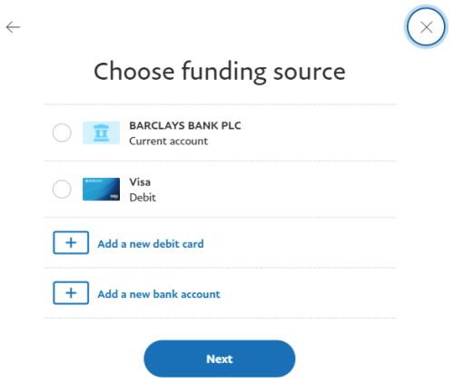PayPal buy crypto UK